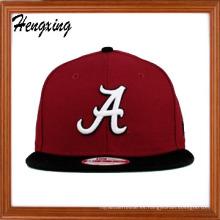 Casquillo rojo Snapback Hat Flat Bill tapas plana máximo