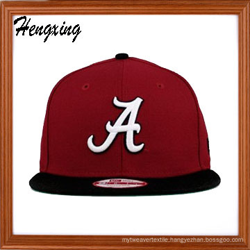Red Snapback Hat Flat Bill Caps Flat Peak Cap