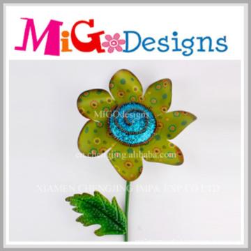 Décor de mur en forme de fleur en métal d'OEM Direct Factory