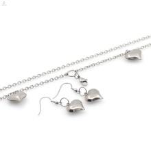 China preço de atacado colar de coração e brinco conjuntos de jóias top de venda