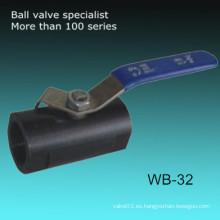 Pn16 Una pieza de acero al carbono A105 Reduzca la válvula de bola de puerto