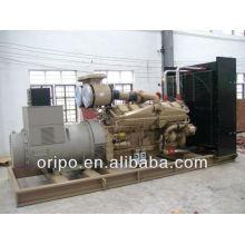 Alta potência com cummins motor gerador diesel 1200kw usado para fábrica, trabalho de construção