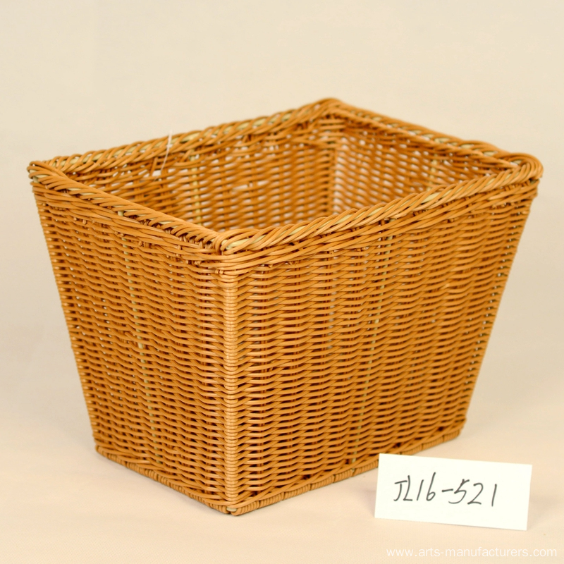 Rectangular Plastic Rattan Magzine Basket
