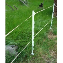 Electric fence post for wild animal