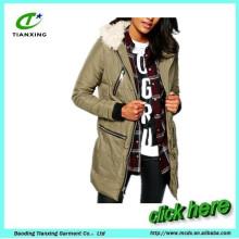 Досуг мода хлопка-ватник фугу куртка женщин