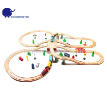 DIY типа деревянные классические железнодорожные игрушки поезд Kit