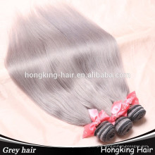 En gros gris couleur trame de cheveux humains non transformés droite curl cheveux et vague de corps perruques de cheveux humains