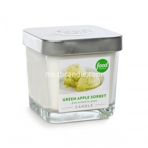graceful square jar glass candle with scent