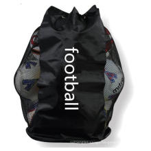 Soccer Football Cord Closure Bag Nylon Mesh 12 Ball Sack Drawstring Soccer Bag
