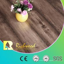 Piso laminado de madera de la madera laminada del roble de la textura de la viruta de 12.3mm