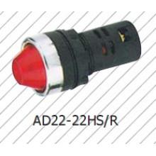 Lâmpada sinal vermelho de 16mm, verde amarelo Bule branco Lâmpada indicadora