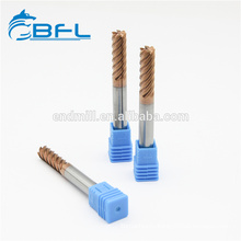 BFL Solid Carbide 6 Flutes Finishing Cutters For CNC Machine Tools