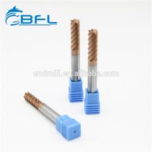BFL твердосплавные 6 канавки финишные фрезы для станков с ЧПУ
