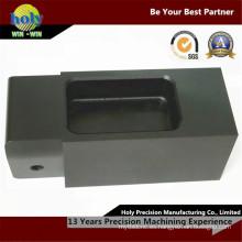 Piezas trabajadas a máquina CNC de aluminio de la vivienda horizontal de las piezas del CNC
