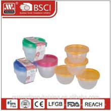 Plástico redondo Food Container 0.45L(4pcs)