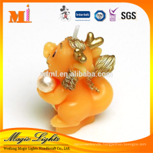 Orange Color Funny Dragon Animal Shaped Gift Candle