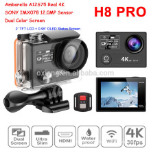 Latest Really 4K Waterproof Sport camera H8R Pro Wireless Video camera 360VR Ambarella A12 IMX078 Wifi watch Action camera