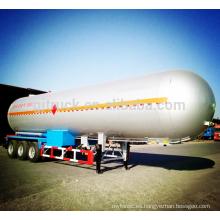 Remolque del tanque de la capacidad del acoplado 60m3 del remolque del tanque de 3 ejes LPG semi / semi del remolque del tanque de 3 ejes