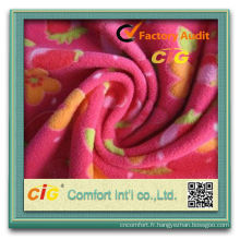 Mode nouvelle conception AOP molleton de Polyester tissu