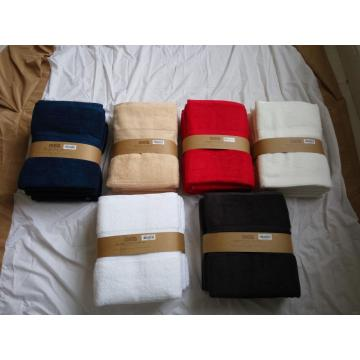 70%  bamboo 30 %cotton 4 sets of Towel Set