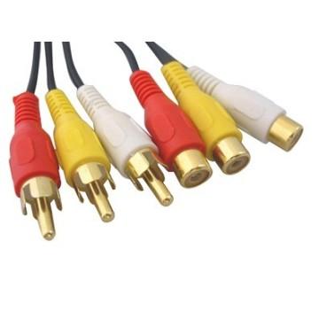 Cinch Kabel Stecker auf Buchse Audio & Videoserie