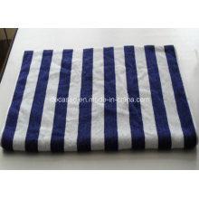 Синий и белый полосы хлопок полотенце для лица (РСУ-9102)