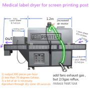 High Efficient 300PCS/Hr Medical Label Dryer Post Press Machine for Screen Printing