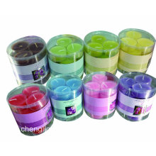 Duftende Teelicht mit verschiedenen Farben