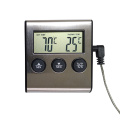 Large LCD Digital Cooking Thermometer with Clock Timer