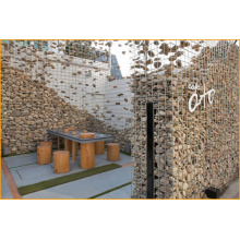 welded gabion box used to build exterior walls