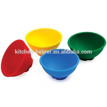 Colorful 100% silicone retractable durable silicone bowl