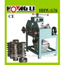 HHW-G76 3-rouleau métal machine à cintrer pour squre / rond tuyau