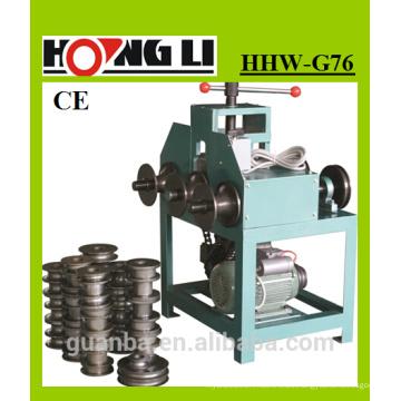 HHW-G76 tres rollo de acero inoxidable dobladora para squre / tubo redondo