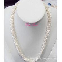 65cm Art- und Weisereisperlen-Halskette