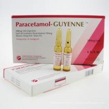 Injection efficace de lidocaïne de médecine occidentale + injection de paracétamol