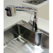 Vertical Pull out Single Handle Kitchen Faucet and Mixer