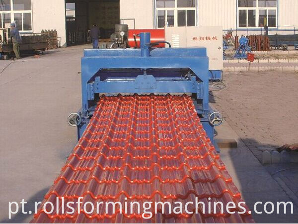 Glazed Sheet Roof Panel Roll Forming Machine