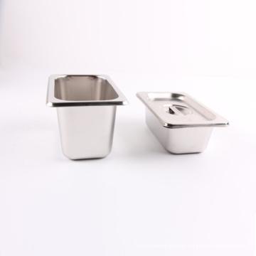 Bandeja gastronorm do gn de aço inoxidável do recipiente do bufete do estilo dos EU para o cozinheiro chefe com tampa