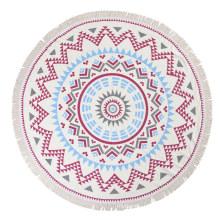 innovative Cotton printed round beach towels with tassel sof textile Mandala