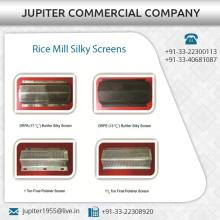 Exportador indio de la pantalla de seda de molino de arroz al mejor precio disponible