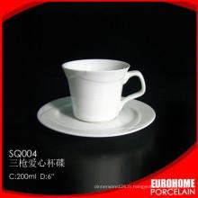 Chaozhou stock 200ml nouvelle porcelaine coupe réglée en usine