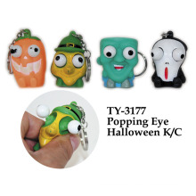 Divertido Popping Eye Halloween K / C llavero de juguete