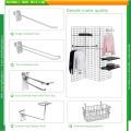Chromed Slatwall Loop Euro Hooks for Grocery Stores