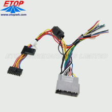 car stereo wiring harness and audio cable assembly