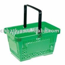 Cesta de compras plástica / cesta plástica del supermercado