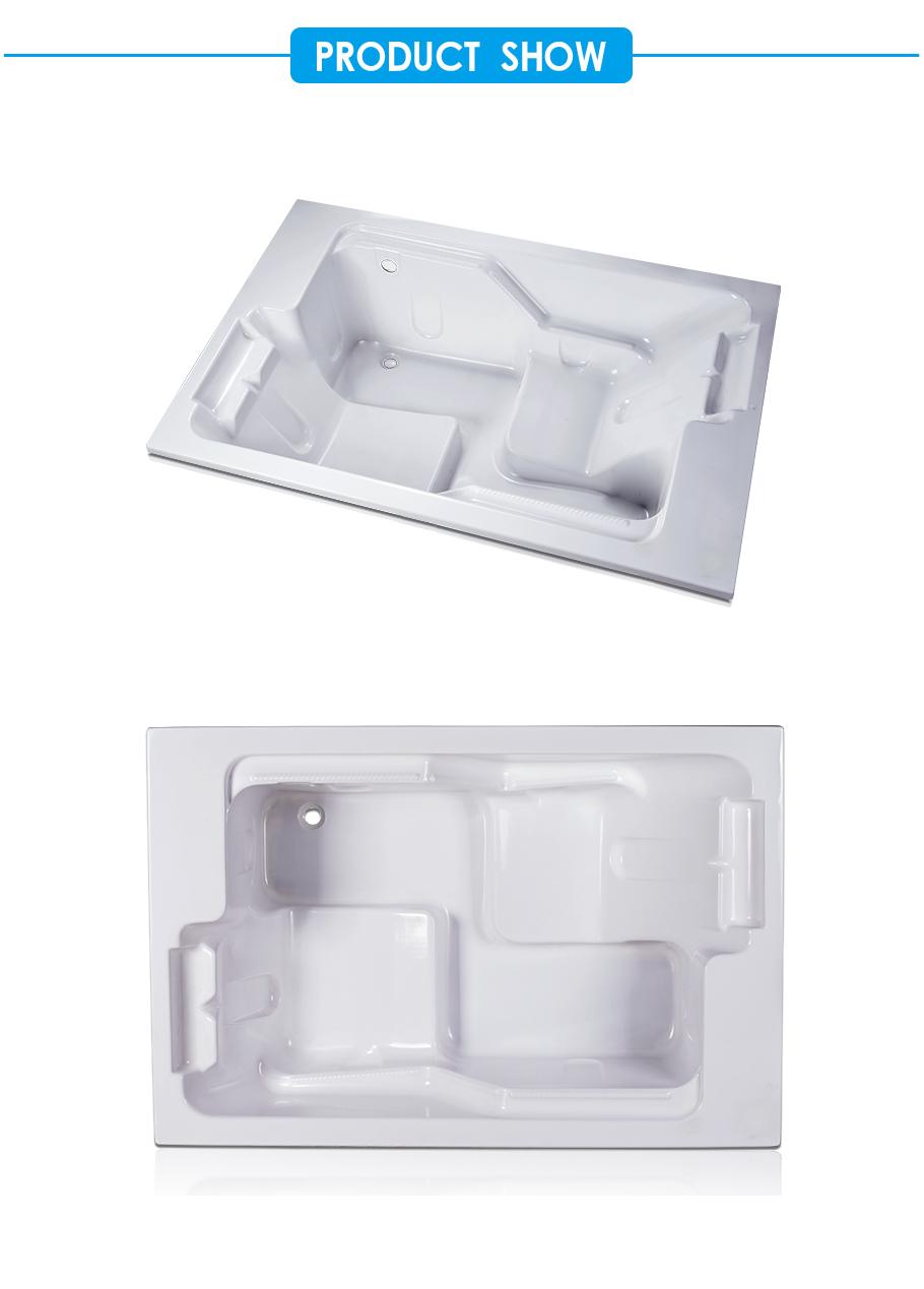 Boudoir Double Bathers Drop-in Bathtub in White