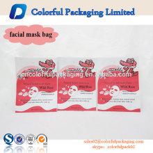 Aluminiumfolie Material Kunststoff Kosmetiktasche maßgeschneiderte Gesichtsmaske Verpackung