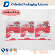 aluminum Foil Material plastic cosmetic bag customised facial mask packaging