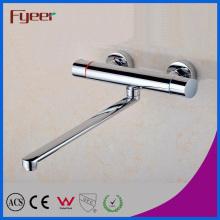 Fyeer High Quality Brass Long Spout Mixer Tap Bathroom Bath Faucet