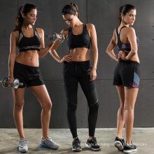 Venta caliente elástico venda de las mujeres del estilo de vida llano sujetador deportivo